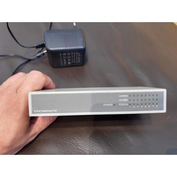 Switch przełącznik sieciowy 8 portów 10/100 MBit