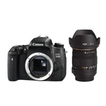 Lustrzanka cyfrowa Canon EOS 760D + Sigma 17-50mm