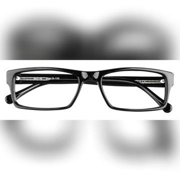 Okulary korekcyjne męskie wg recepty (czarny)