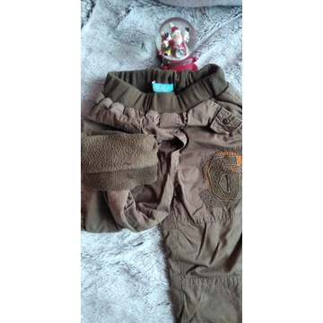 Spodnie ocieplane polarem zima 104