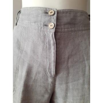 Lniane spodnie firmy Gallery, roz. 42