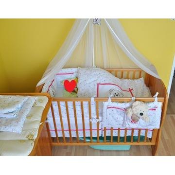 Komplet mebli dziecięcych - szafa komoda łóżeczko