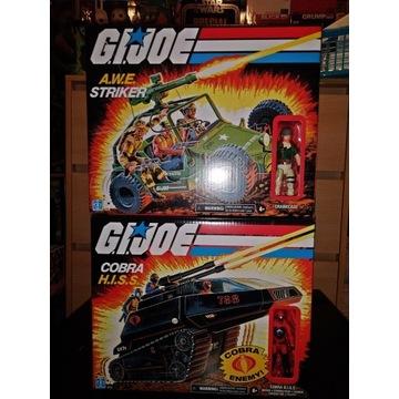 G.I. Joe A.W.E. Striker + Cobra H.I.S.S.
