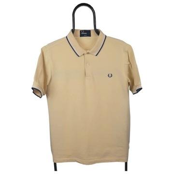 Fred Perry żółta polówka polo koszulka m L slim fi