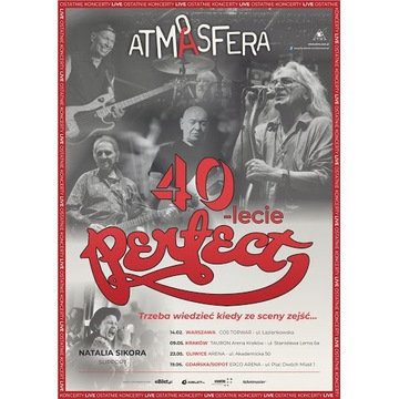 3 Bilety Koncert Perfect 40 lecie Kraków 03.10