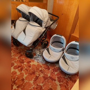 Wózek bliźniaczy Junama diamond duo