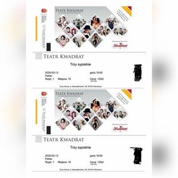 Bilety do Teatru Kwadrat Trzy Sypialnie