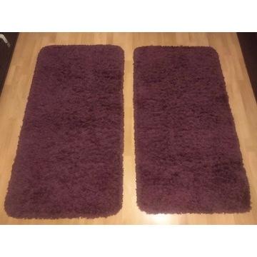 Dwa dywany dywaniki w kolorze fioletowym 150x80