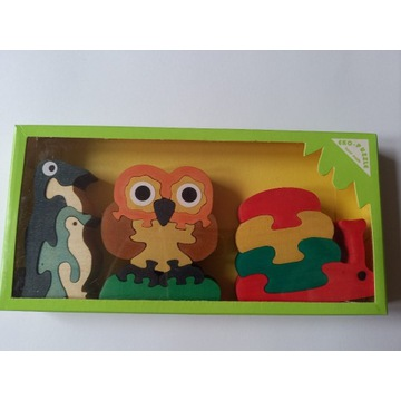 Drewniane puzzle układanka - wspiera zbiórkę