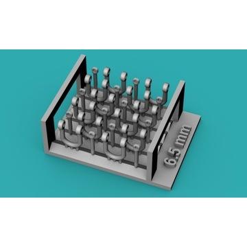Szekle proste (U) 6,5mm - 10 sztuk - 1:48