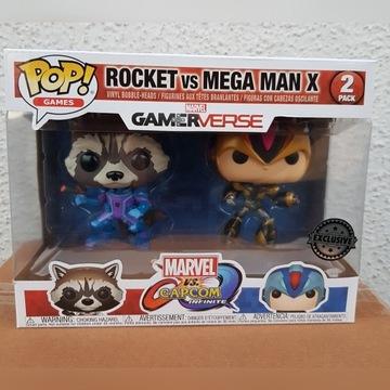 Figurka Funko Pop: Rocket vs Mega Man X - Marvel