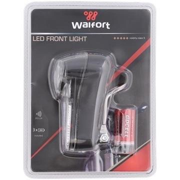 Reflektor rowerowy przedni LED Walfort Z bateriami