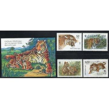 FAUNA tygrys blok z 1992 roku + seria 1993 roku
