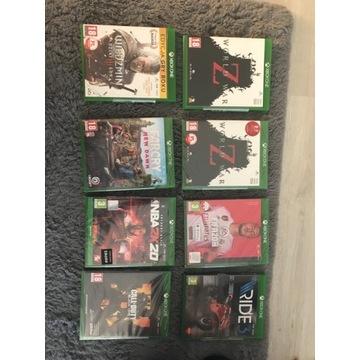 Zestaw 8 gier. 4 nie otwierane Xbox one
