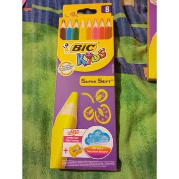BIC Kids Super Soft kredki ołówkowe opak. 8 szt. +