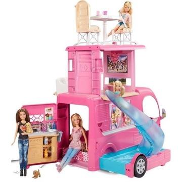 Mattel Barbie Wymarzony Kamper Różowy Piętrowy