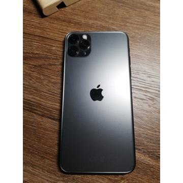 iPhone 11 pro max   jak nowy   naklejona folia