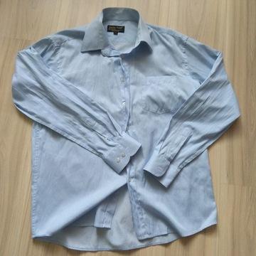 Męska koszula niebieskie paski