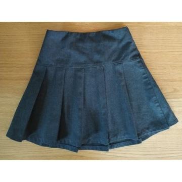Spódnica plisowana - wiek ok. 5-6 lat, grafitowa