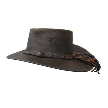 kapelusz ze skóry naturalnej