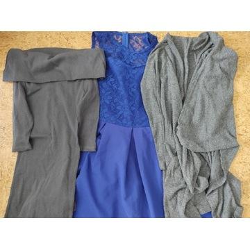 Sukienka narzutka bluza sweter paka zestaw