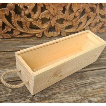 Skrzynka z drewna do decoupage i rękodzieła