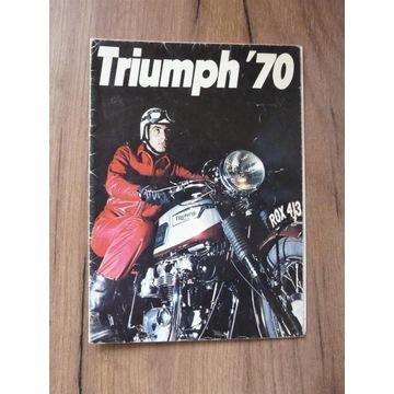 Motor Triumph 1970 prospekt wydanie angielskie