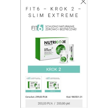 NUTRICODE SLIM EXTREME FIT6 ETAP 2