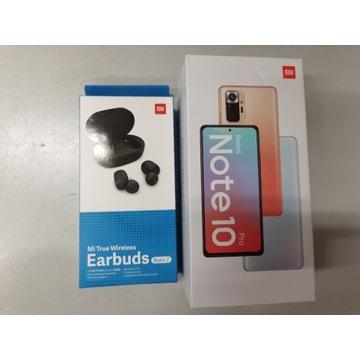Xiaomi Redmi Note 10 Pro 6 RAM 64 GB czarny + buds