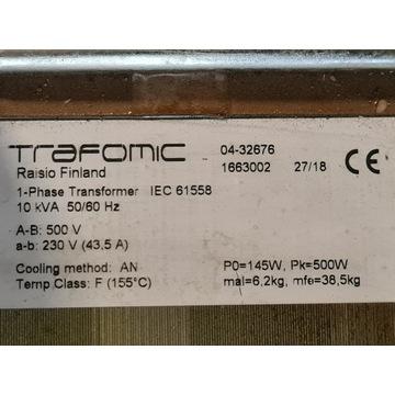 Transformator z 500V na 230 10 kVA 50 60 Hz 43.5 A