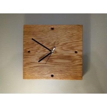 zegar ścienny, dębowy ,drewniany , dąb amerykański