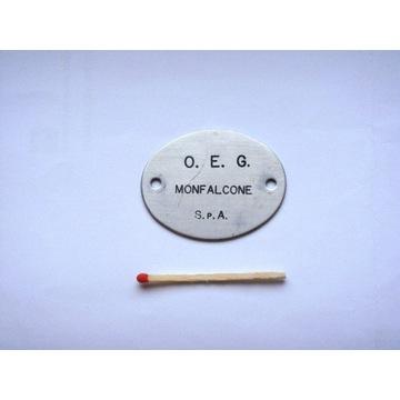 MONFALCONE -  emblemat - tabliczka z nazwą stoczni