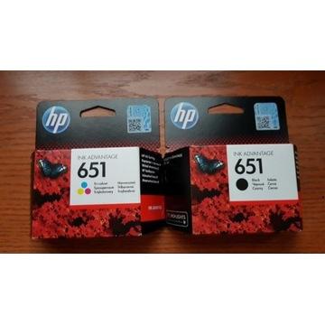 Oryginalne tusze numer HP 651 kolor plus czarny.