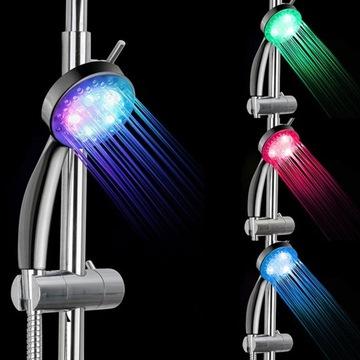 Świecący prysznic super efekt nie wymaga baterii