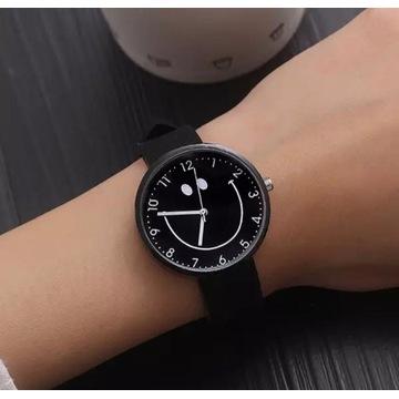 """Zegarek czarny """"uśmiech"""""""