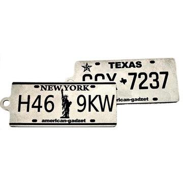 Brelok tablica rejestracyjna New York & Texas