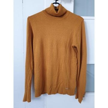 Nowy golfik sweterek Mohito M S 36/38 musztardowy