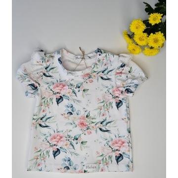 Bluzeczka w kwiaty idealna na lato rozmiar 104