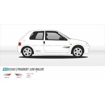 Zestaw naklejek Peugeot 106 RALLYE - naklejki wrc