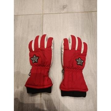 Rękawiczki w kolorze czerwień biel