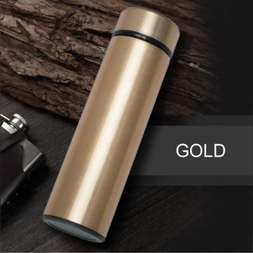 Inteligentny termos Złoty 500 ml + DARMOWA DOSTAWA