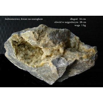 Kwarc krystaliczny na szarogłazie, Imbramowice