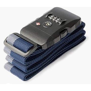 Pas bagażowy z szyfrem, cert.TSA, LINE, niebieski