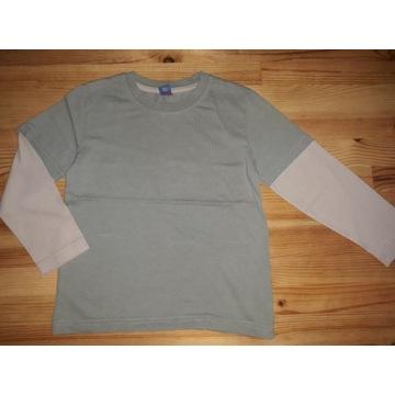 Bluzka z długim rękawem typu 2 w 1 koszulka TU 110