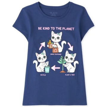 Childrens Place bluzeczka Glitter Cat 7-8lat