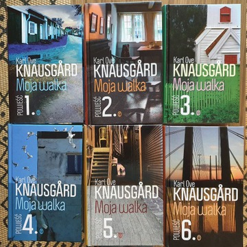 """Moja walka"" Karl Ove Knausgard (t. 1.-6.)"