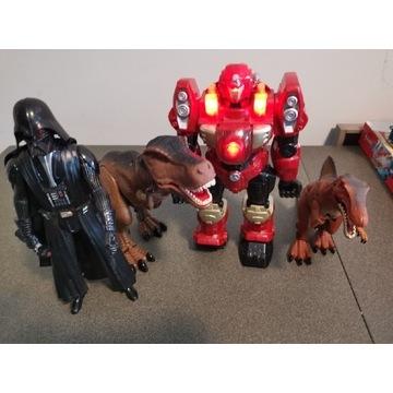 29 PLN za 4 zabawki (2x dinozaur, robot, Vader)