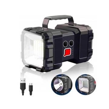 """Latarka akumulatorowa """"szperacz"""" LED XM-L T6 USB"""