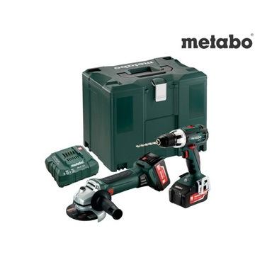 METABO 18V wkretarka szlifierka BOX 2x 4.0Ah combo