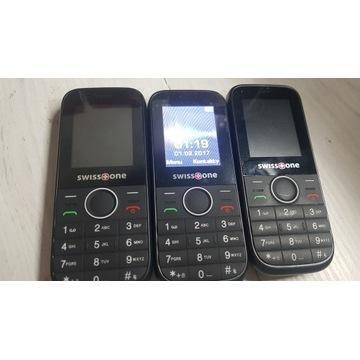 3 szt w cenie 1 Swiss one D210 Telefon dla seniora